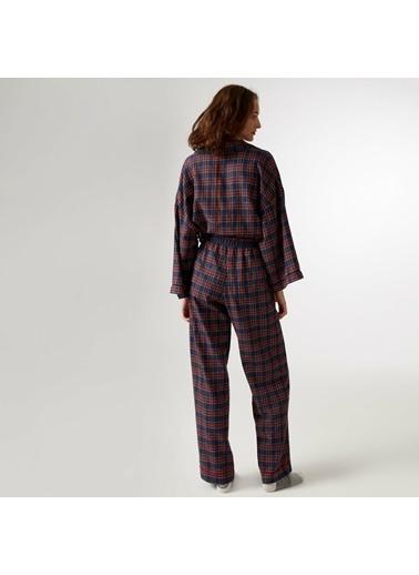 Yargıcı Grogren Detaylı Pijama Altı Lacivert